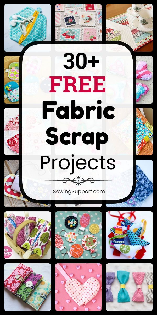 Free Sewing Projects using Fabric Scraps