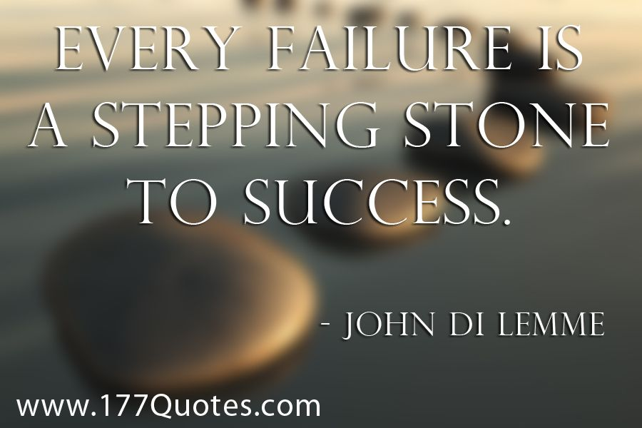 essays on failures are stepping stones to success