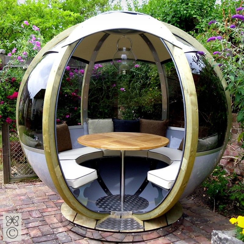 Garden Furniture Pod enclosed sun room with uv protected glass | home champagne garden
