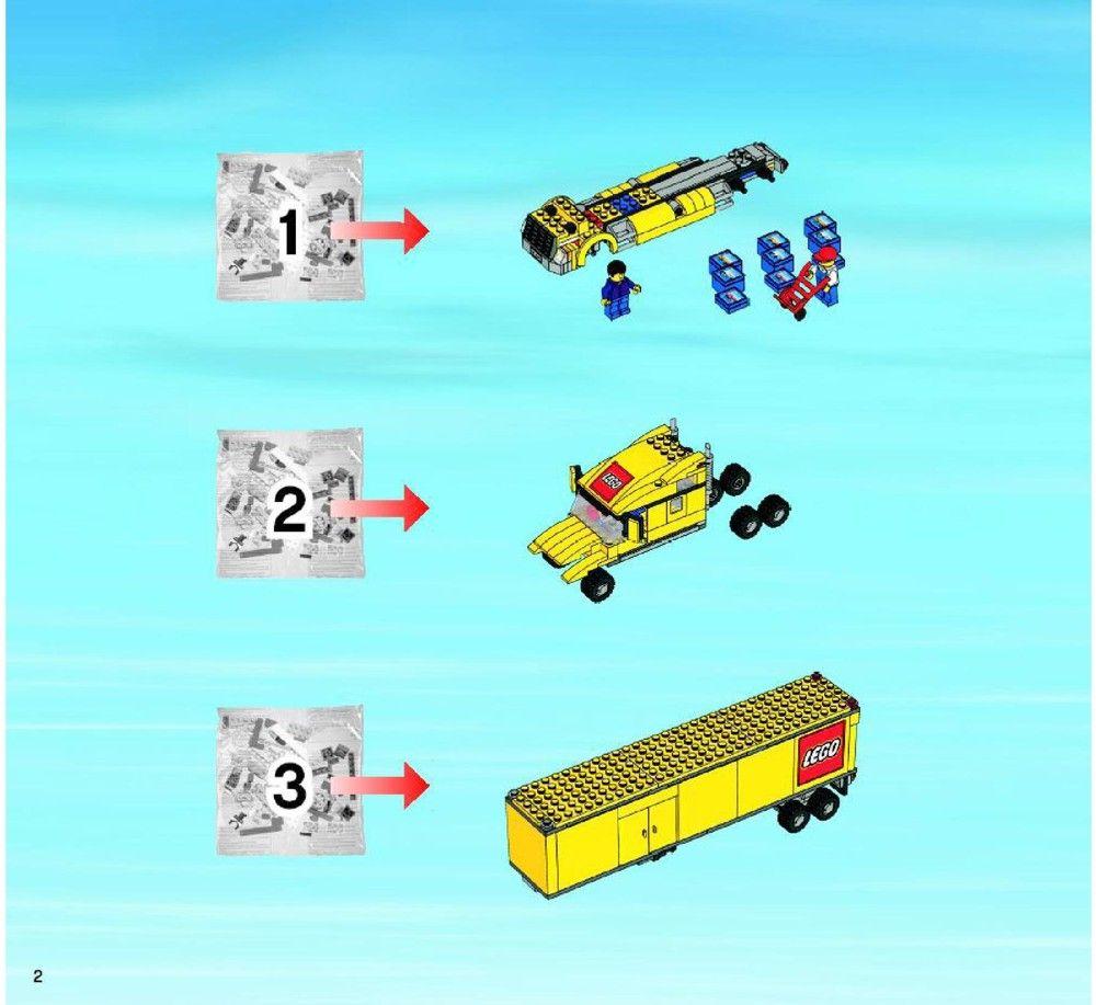 City - Delivery Truck [Lego 3221] | Lego, Lego ...Lego City Truck Instructions