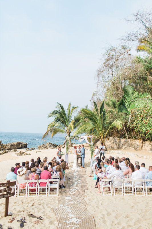 Las Caletas Puerto Vallarta Beach Mexico Wedding Mexico Wedding Palm Trees Wedding Wedding Ceremony Setup
