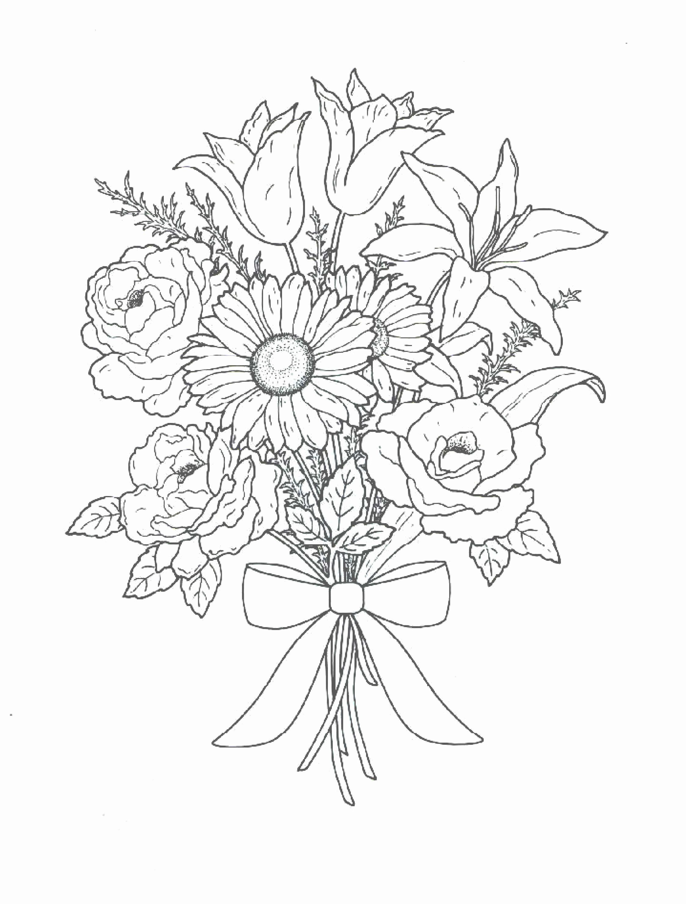 Bouquet Of Flowers Coloring Page Unique Bouquet Flowers Coloring Pages For Childrens Printable Flower Coloring Pages Coloring Pages Flower Bouquet Drawing
