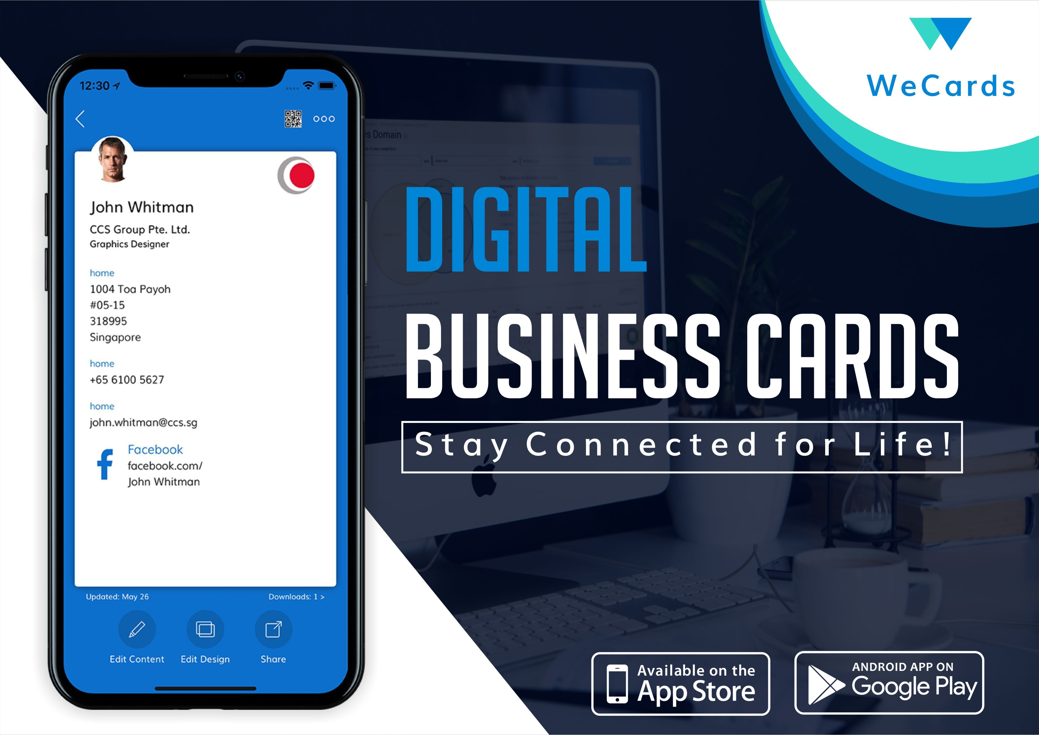 Everything Is Changing With Time Are You Stop Carrying Physical Cards And Try Wecards Your Busine Digital Business Card Business Card App Digital Business