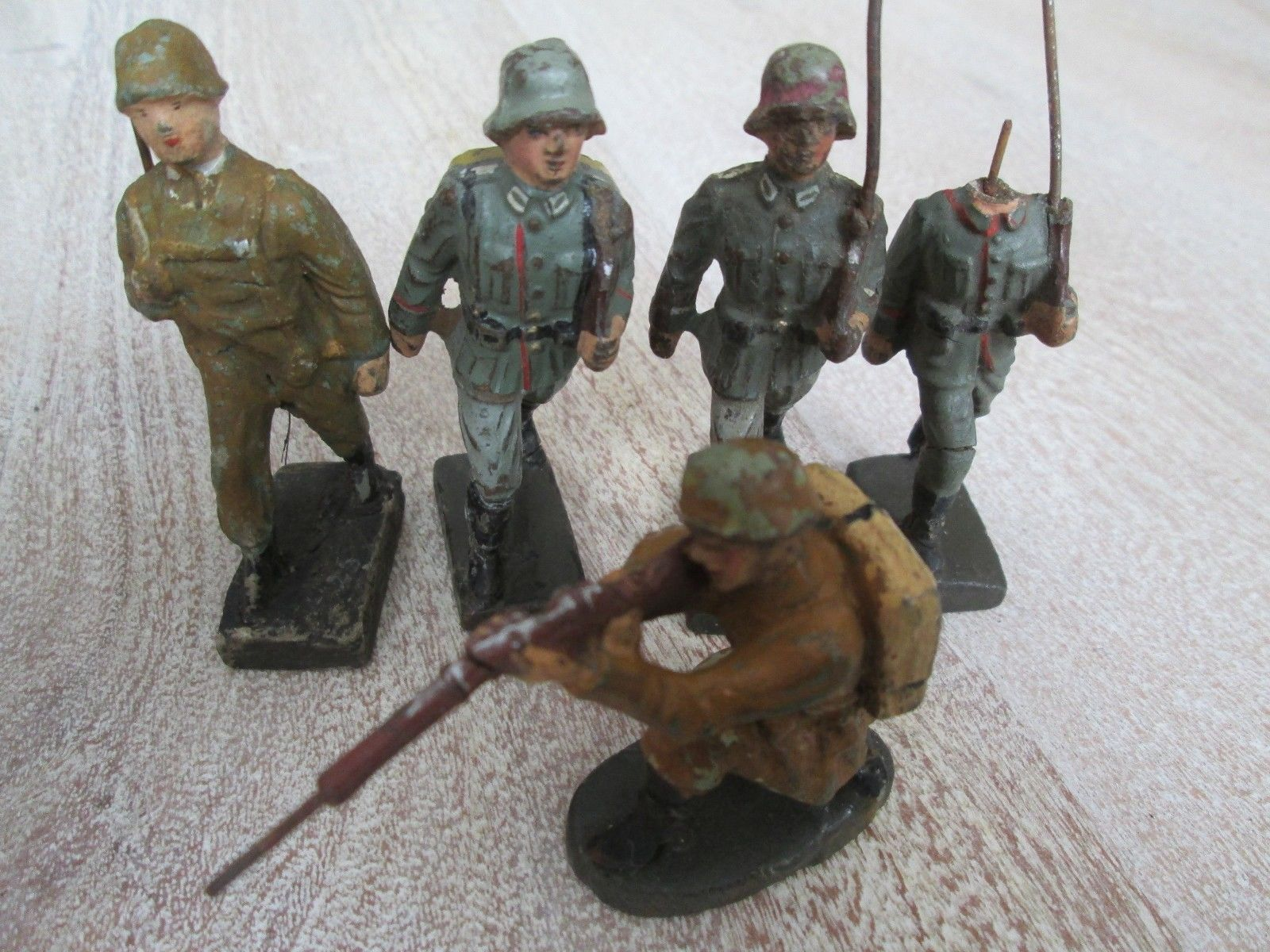 Lineol Massefiguren 5 Soldaten Wehrmacht Bellum Leyla Ellastolin | eBay