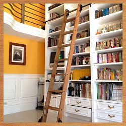 These Folks Have Hardware To Build Your Own Rolling Library Ladder Or Hidden Library Doors Too Modern Industrial
