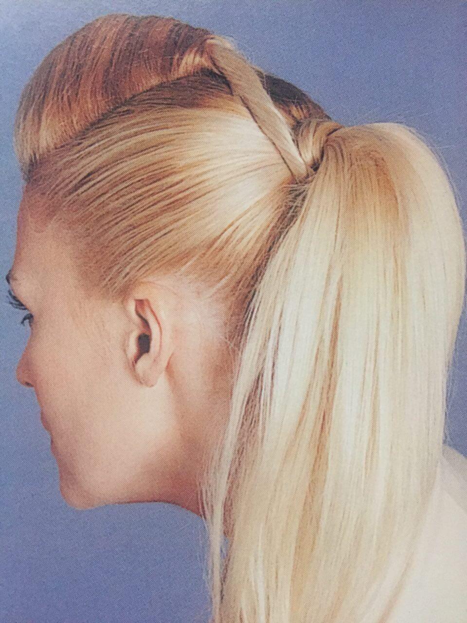 Coupe de cheveux et queue de cochon