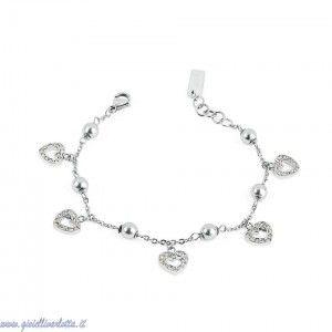 s'agapò bracciale love day con perle e cuoricini SLD11 http://www.gioiellivarlotta.it/product.php?id_product=1149
