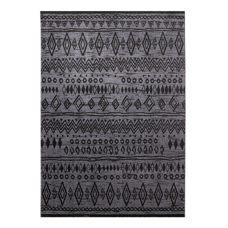 Wecon Home teppich contemporary kelim schwarz grau 120 x 170 cm wecon