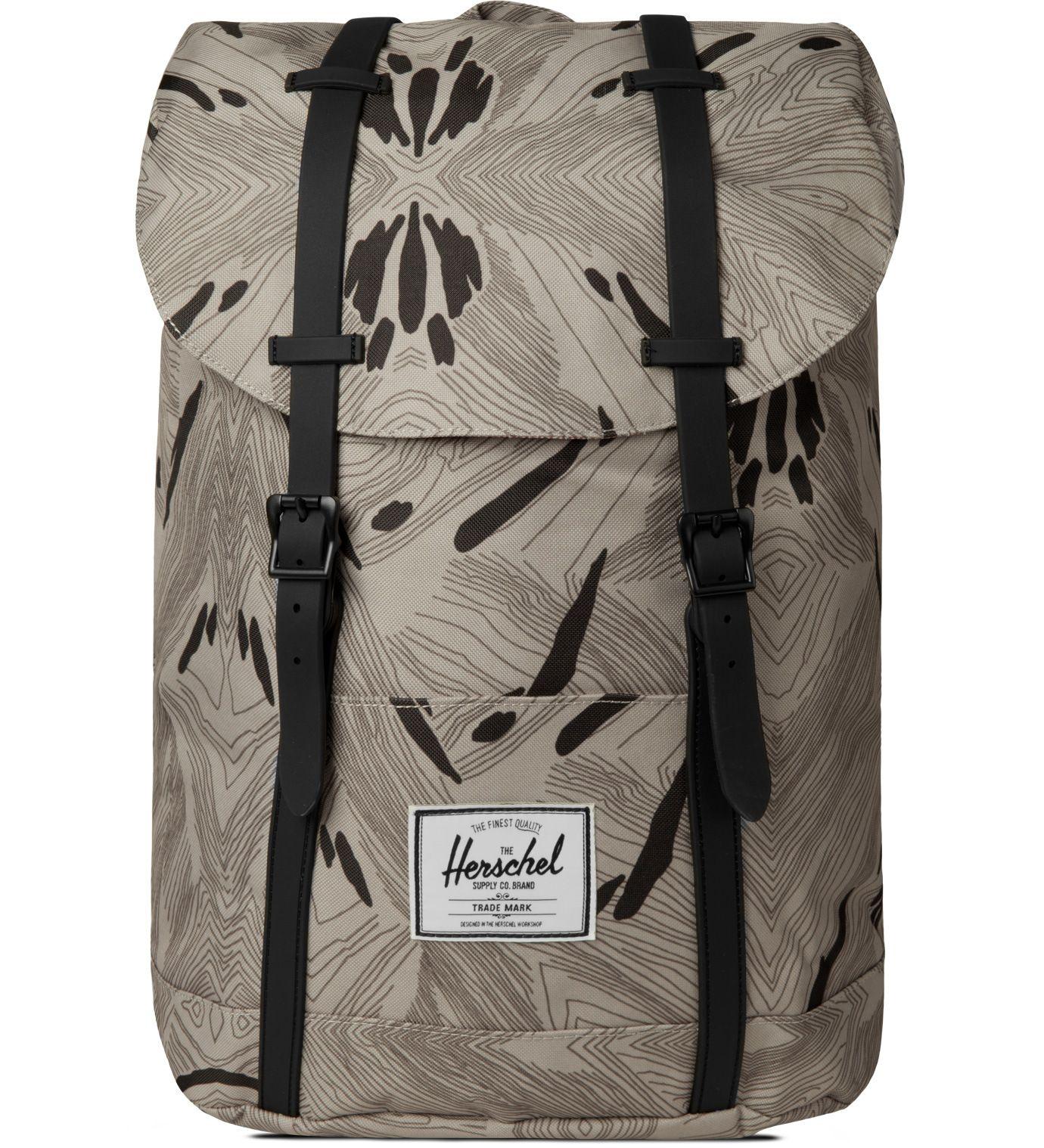 Herschel Supply Co. Geo Black Rubber Retreat Backpack   HYPEBEAST Store.  Shop Online for Men s Fashion, Streetwear, Sneakers, Accessories c9431a173a