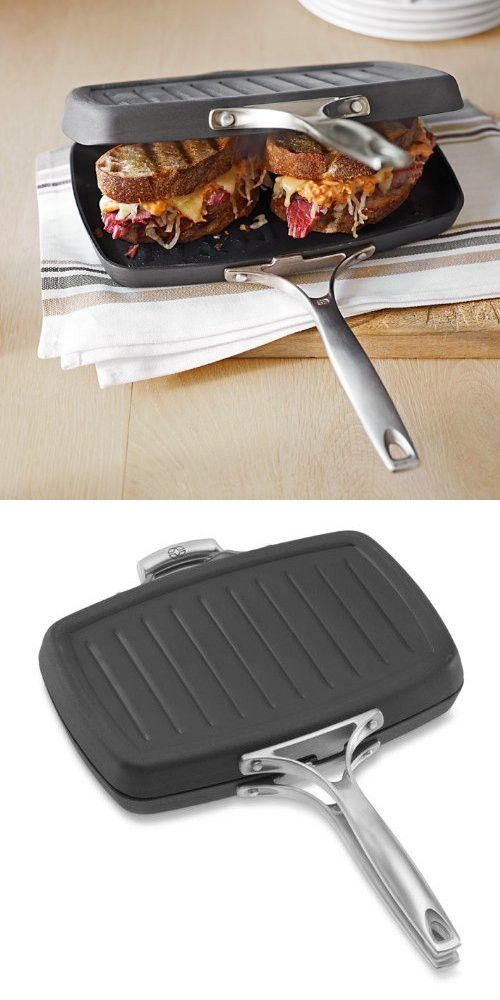 Calphalon Unison Nonstick Double Grill Press Pan Set By Ws