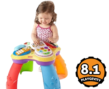 Fisher Price Laugh N Learn Learning Table Over 60 Songs Tunes And Phrases Baby Developmental Toys Toddler Activities Fisher Price Baby Toys