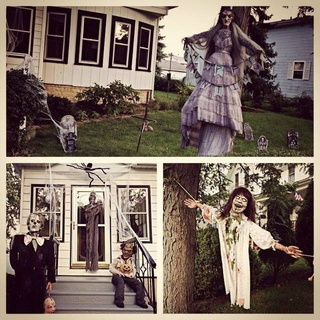 13 Halloween Decorations That Got Way Too Real Decoration - halloween decoration outside