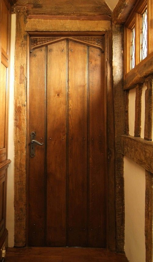 17th Century Style Arched Planked Oak Door Forms And