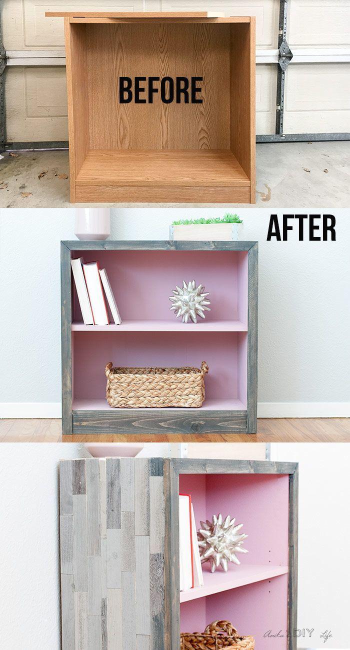 Photo of DIY Rustic Modern Weathered Barn Wood Bookshelf