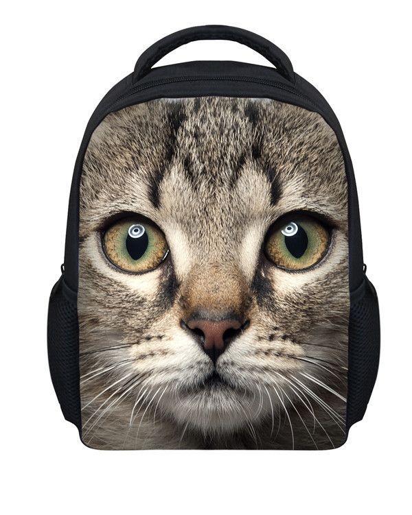 f82dc5b8596 Cute Baby Boys Mini Backpack for School Cute Black Cat Printing Backpacks  for Children 3D Zoo Animals Girls Kindergarten Bagpack