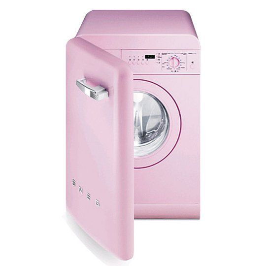 Rainbow Roundup The New Palette Of Colors For Washers Dryers Pink Microwave Washer And Dryer Pink Laundry Rooms
