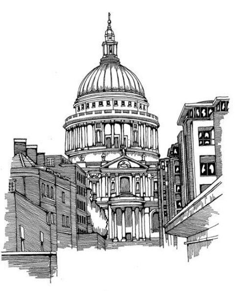 St Pauls Cathedral Sketch London