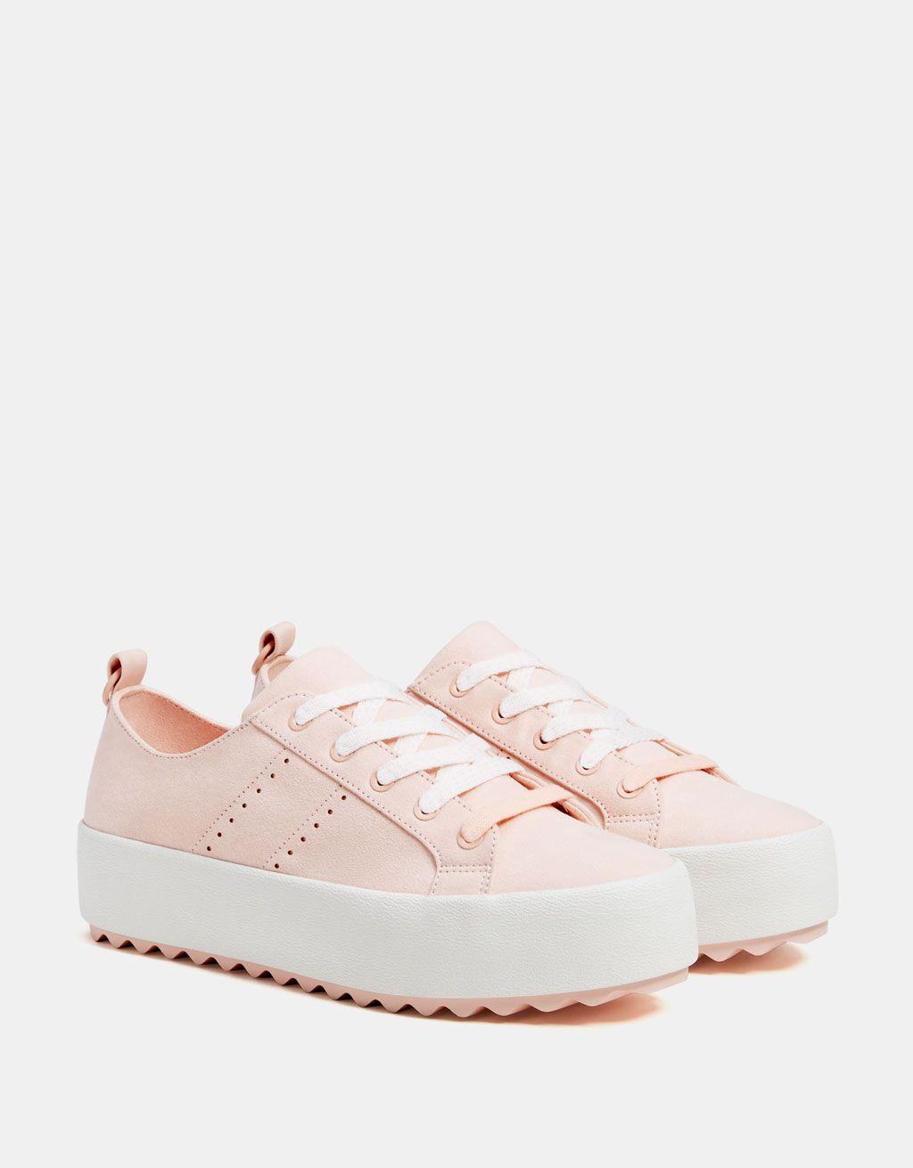 Zapatilla plataforma rosa | Tenis en 2019 | Zapatos