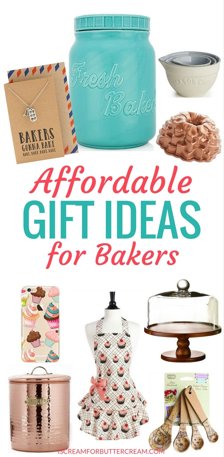 Affordable gift ideas for bakers. These gifts aren't the same old ideas. They're unique gifts any baker will love. #giftideasforbakers #bakergiftideas #giftideas
