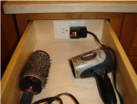 Best Blown Away By Diy Hair Dryer Hidden Outlet Drawer Diy 640 x 480