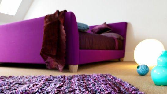 Tapis violet sur Universdutapis.fr | Tapis de salon | Pinterest ...