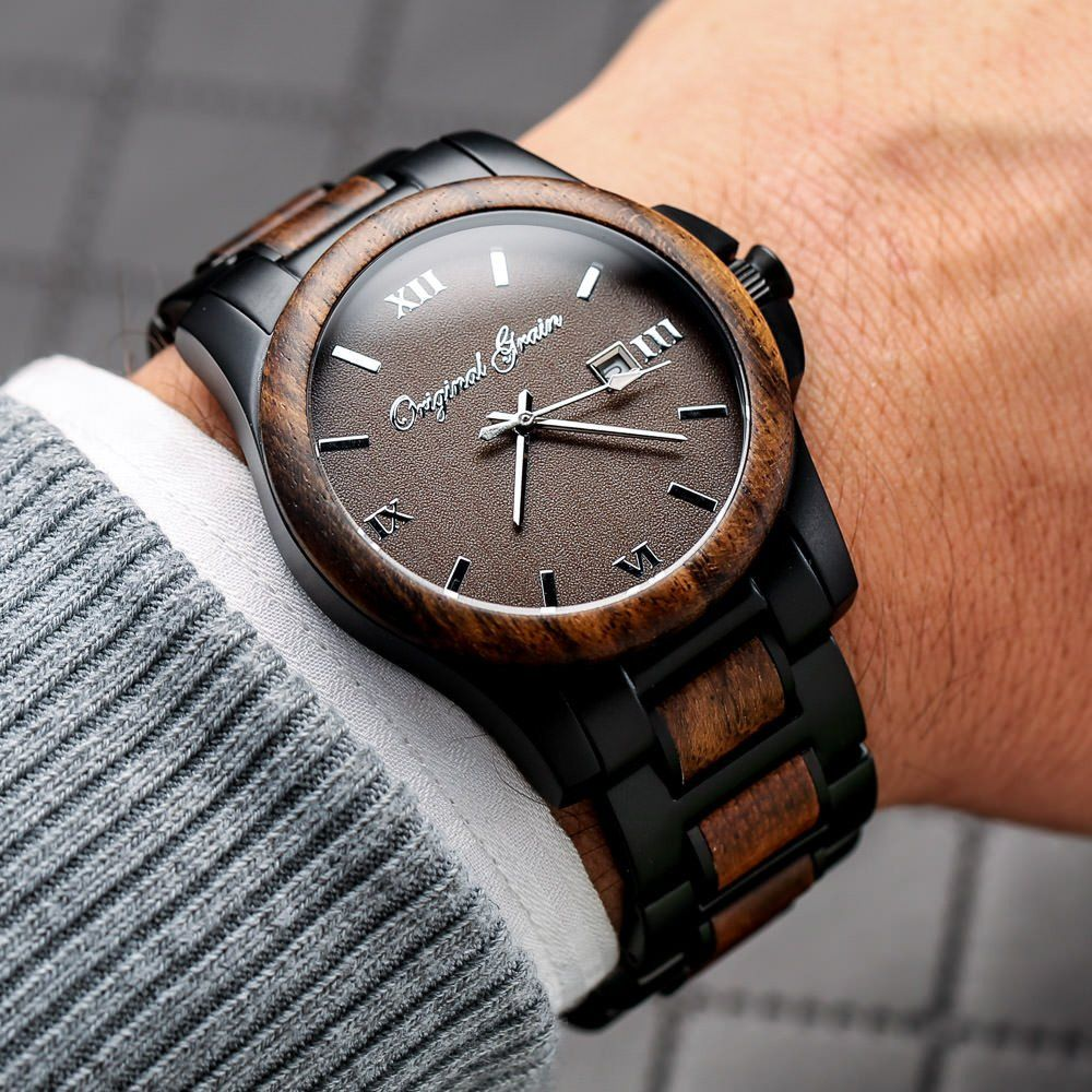wood watches original black true grain youtube barrel watch sapele