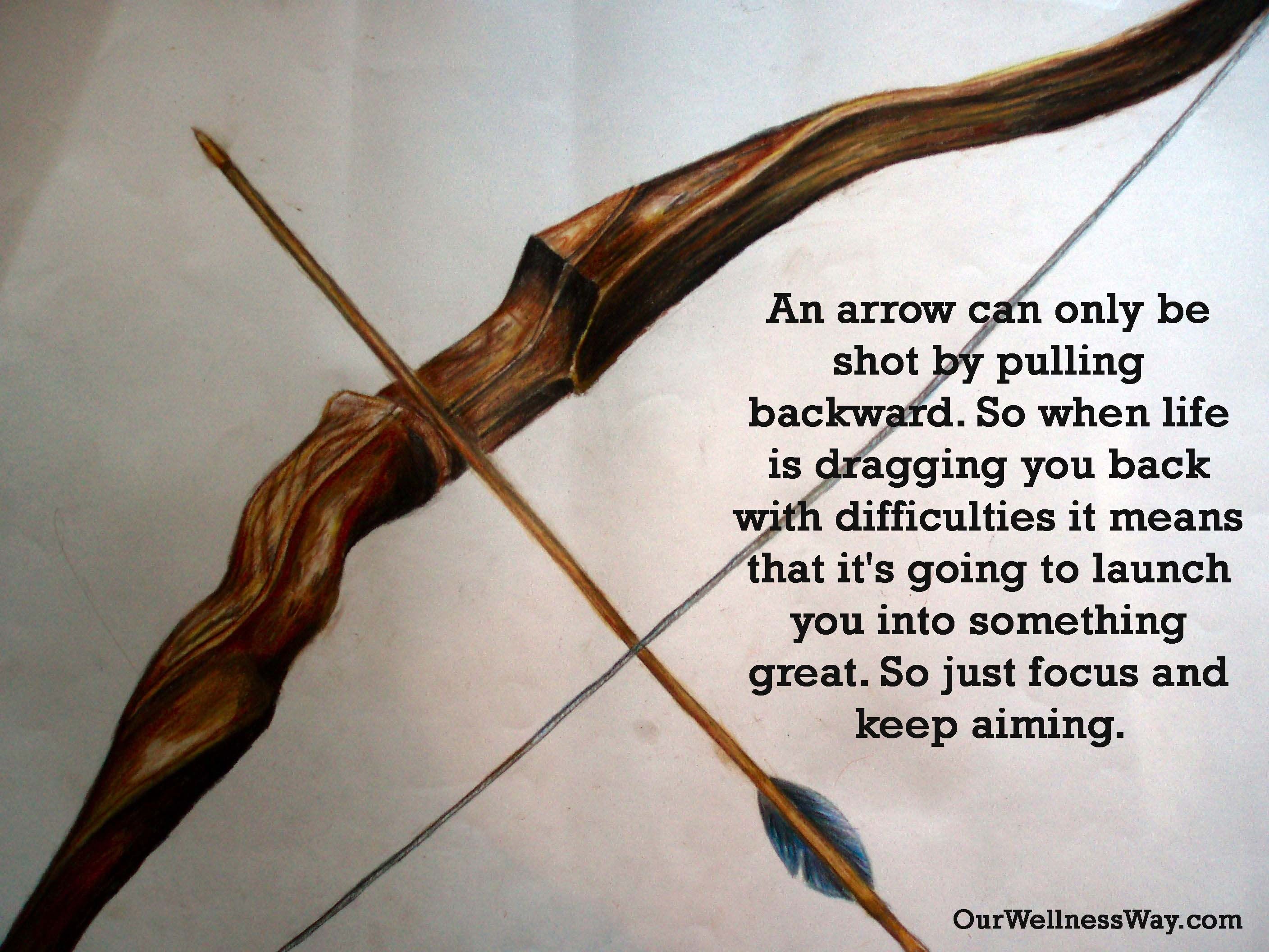 An Arrow Can Only Be Shot By Pulling Backward So When Life Is