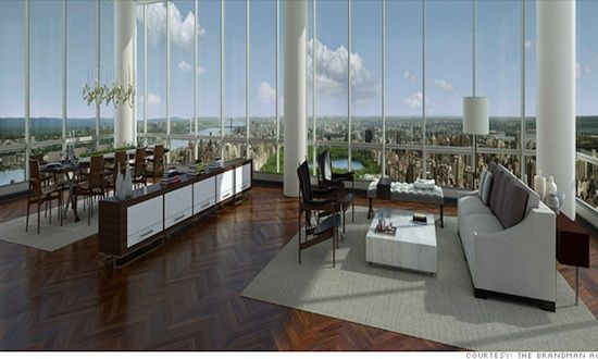 Manhattan penthouse 157 west 57th st 89th 90th for Central park penthouses