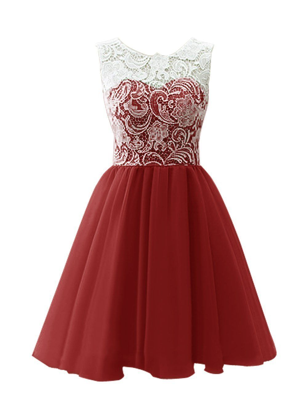 JY Women\'s Ruched Sleeveless Lace Short Party Dresses Evening Gowns ...