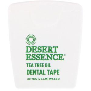 Desert Essence 티트리 오일 덴탈 테이프 왁스처리됨 27 4 M 30 Yds 2020 티트리 오일 테이프 에센스