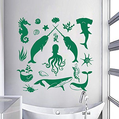 wall decals shells fish decal vinyl sticker nautical on wall stickers for hall id=33363