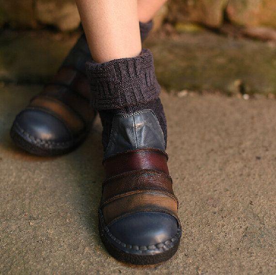 Nouveau 2015 mode tricot bottes bottines chaussures par HerHis