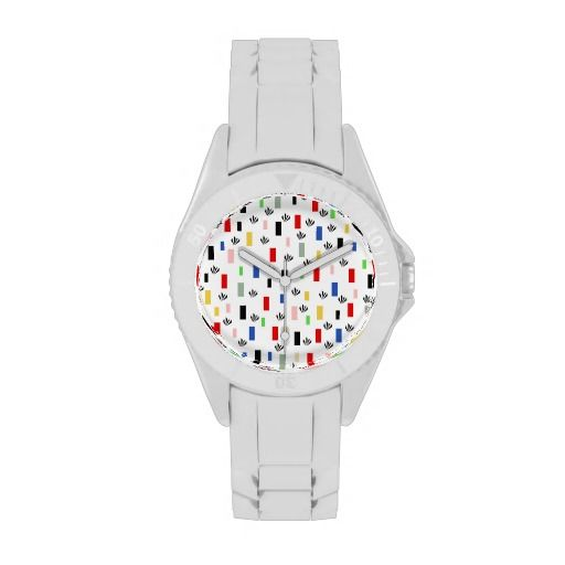 Rectángulos de colores reloj de mano