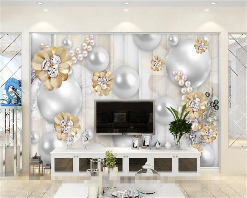 Beibehang Custom Wall paper Murals 3D Living Room Bedroom TV ...