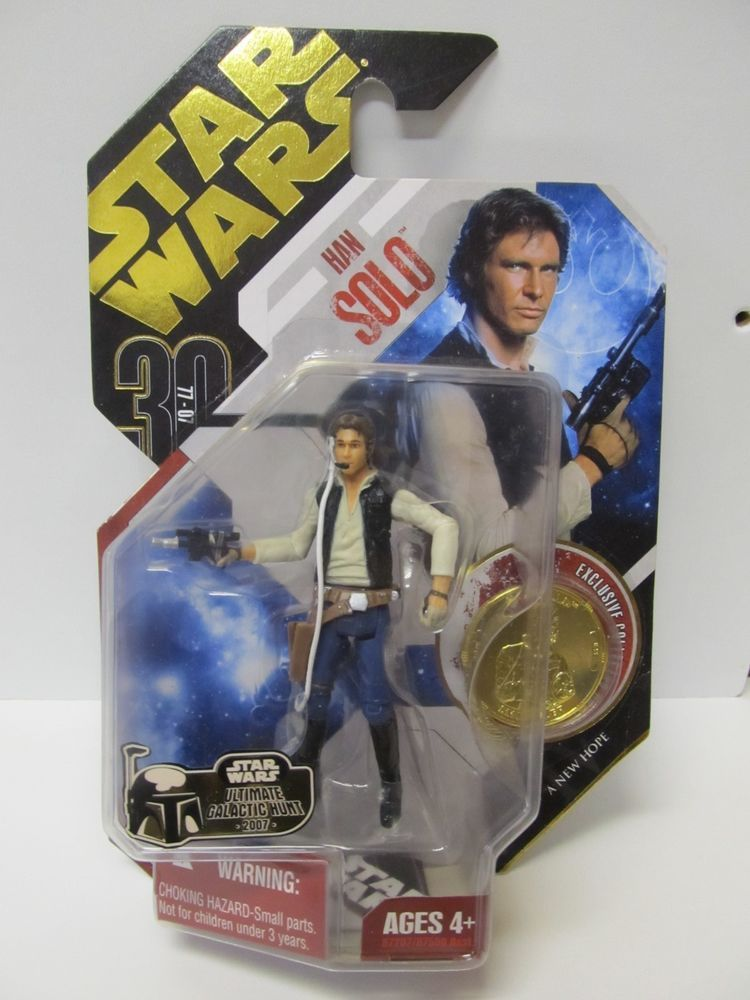 STAR WARS 30TH HAN SOLO UGH GOLD COIN MOC  FREE SHIPPING!!
