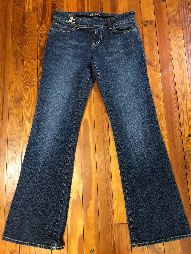 "bba48a7c Delias 9/10 Womens Low Rise Flare Jeans Stretch Acid Wash Trouser Fits  29-34"" W. #dELiAs"
