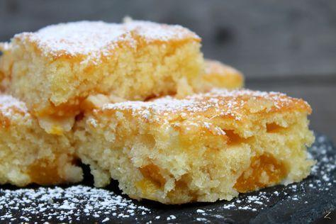 Rezept für super saftigen Pfirsichkuchen vom Blech