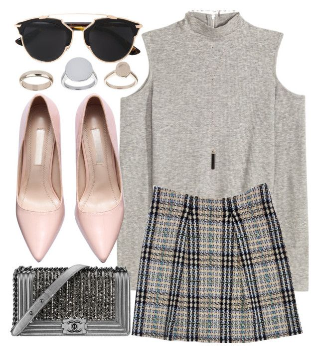 """""""Untitled #1889"""" by thatssojill ❤ liked on Polyvore featuring Burberry, Chanel, Natalie B, Topshop and Christian Dior"""