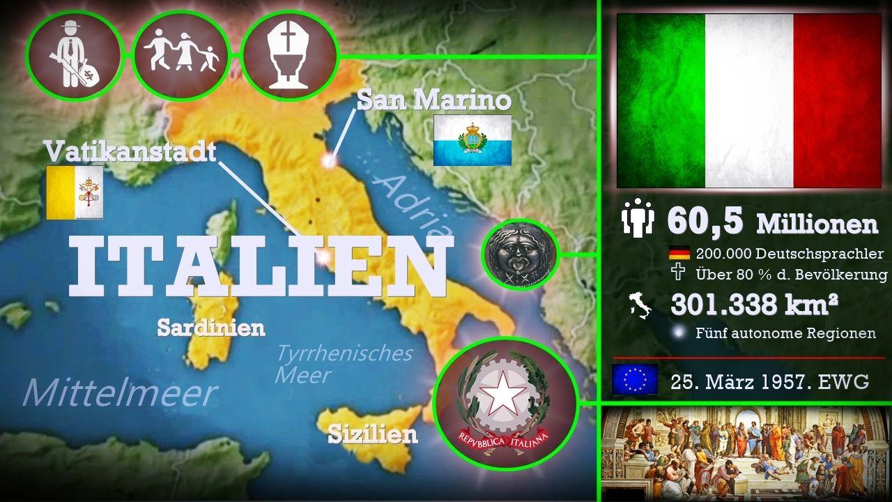 Italien Europaisches Land Mit Langer Mittelmeerkuste Hat Die