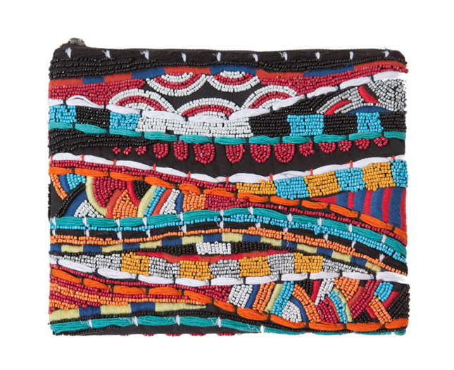 Beaded and Embroidered Wallet from Zara