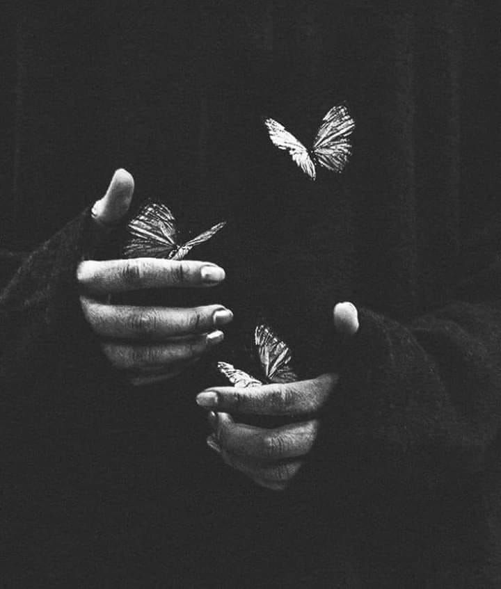 Wallpaper Ideas Blackandwhite Photography Alliswell Butterflies Hands Black And White Aesthetic Black Aesthetic Dark Photography
