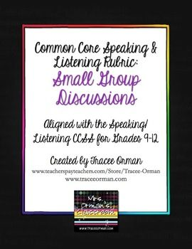 Common core speaking listening rubric group discussions common core speaking listening rubric group discussions stopboris Image collections