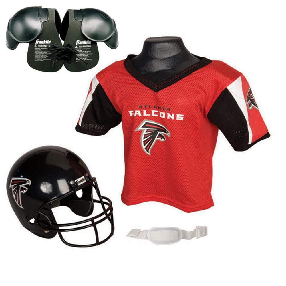 9ad4c2470 Atlanta Falcons Youth NFL Helmet and Jersey SET with Shoulder Pads ...
