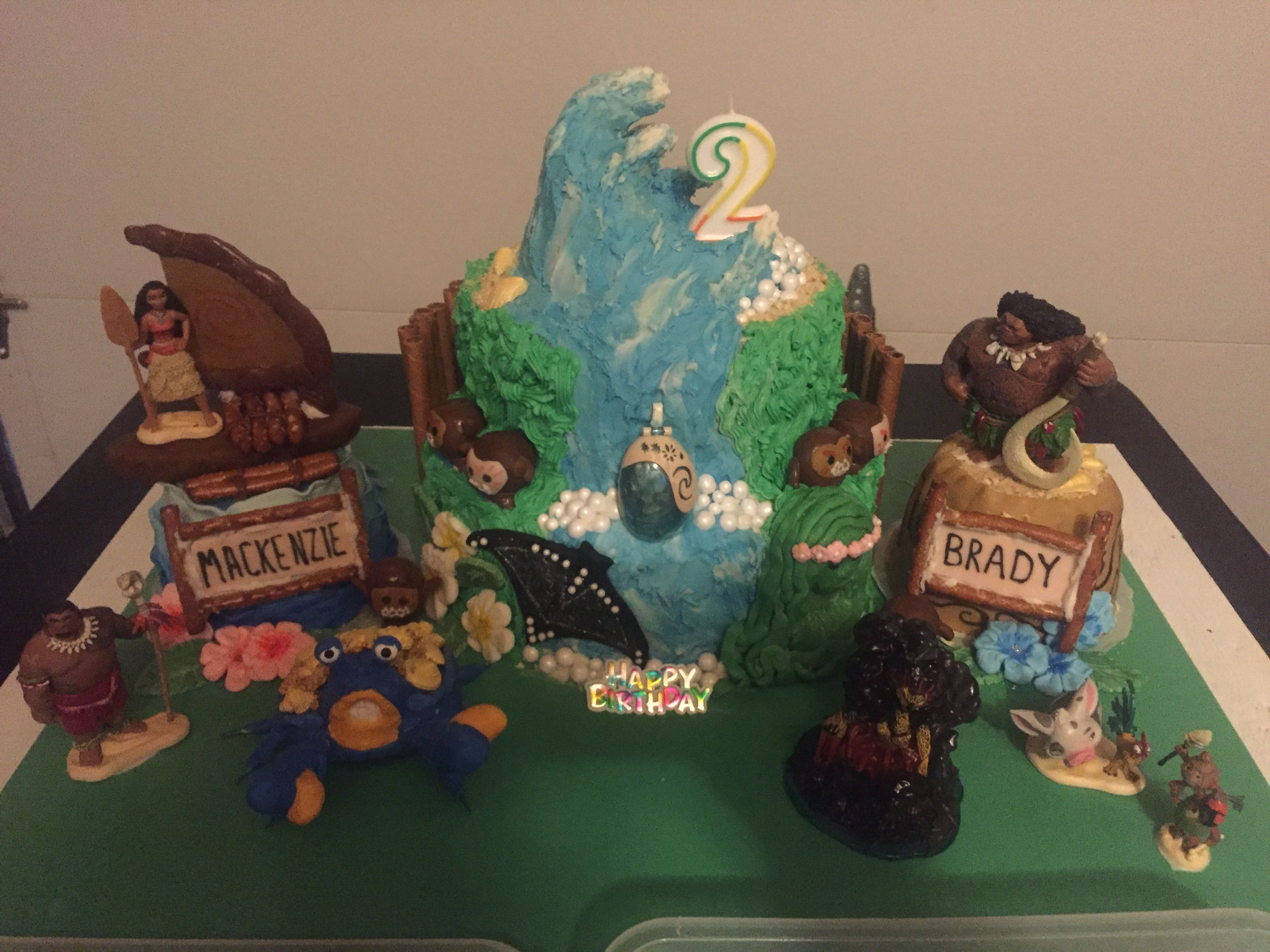 Moana And Maui Birthday Cake For Twin Grand Kids Thanks For All The