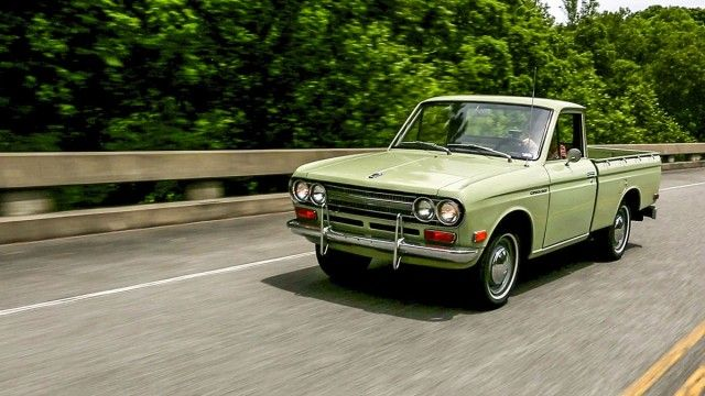 Collections A 1971 Datsun 521 Pickup Comes Home Datsun Datsun Pickup Singer Cars