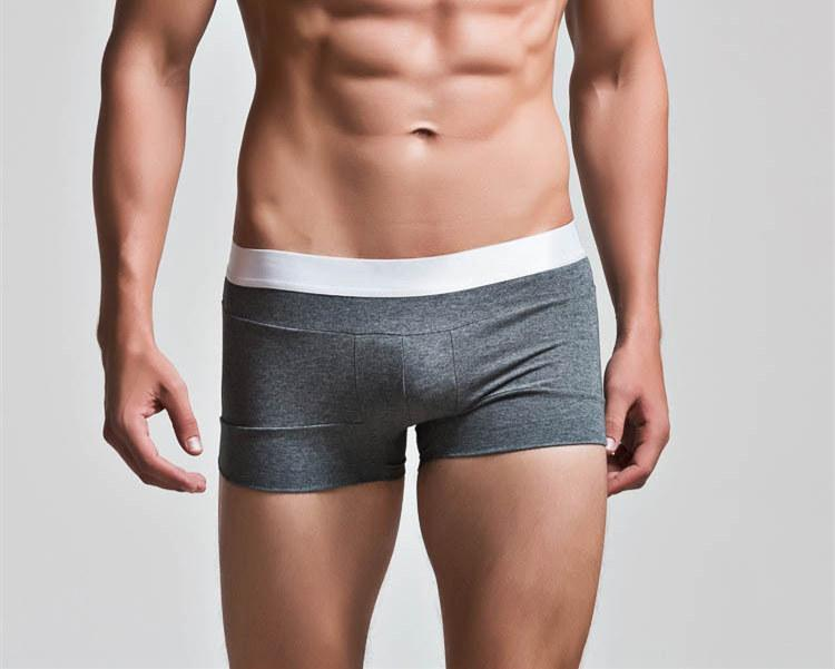 6b513500a309 Briefs & Boxers: Boxer Shorts Pattern Type: Solid Material: Spandex, Cotton  The Design: U convex pouch Feature: Soft Comfortable Breathable Type:  Fashion ...