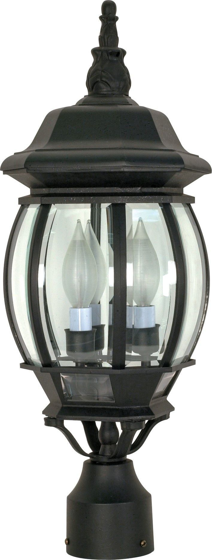 Outdoor Post Lantern in Textured Black Finish