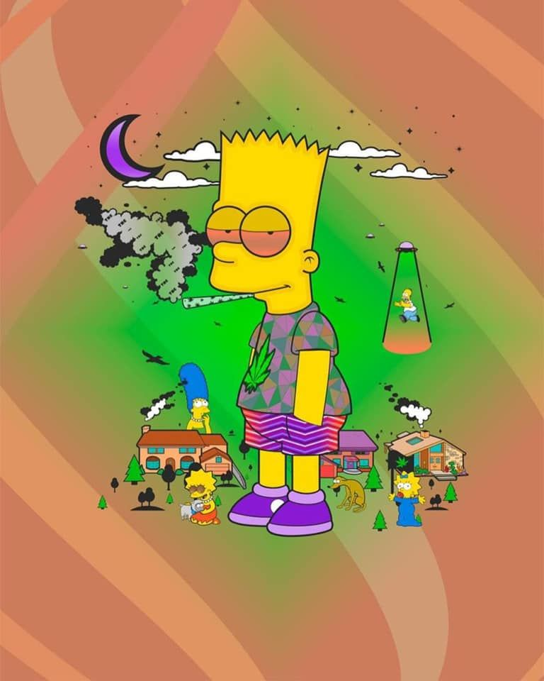 420 Bart Wallpaper Simpsons Tumblr Pinterest Trippy Bart Simpson Art Simpsons Drawings Simpsons Art