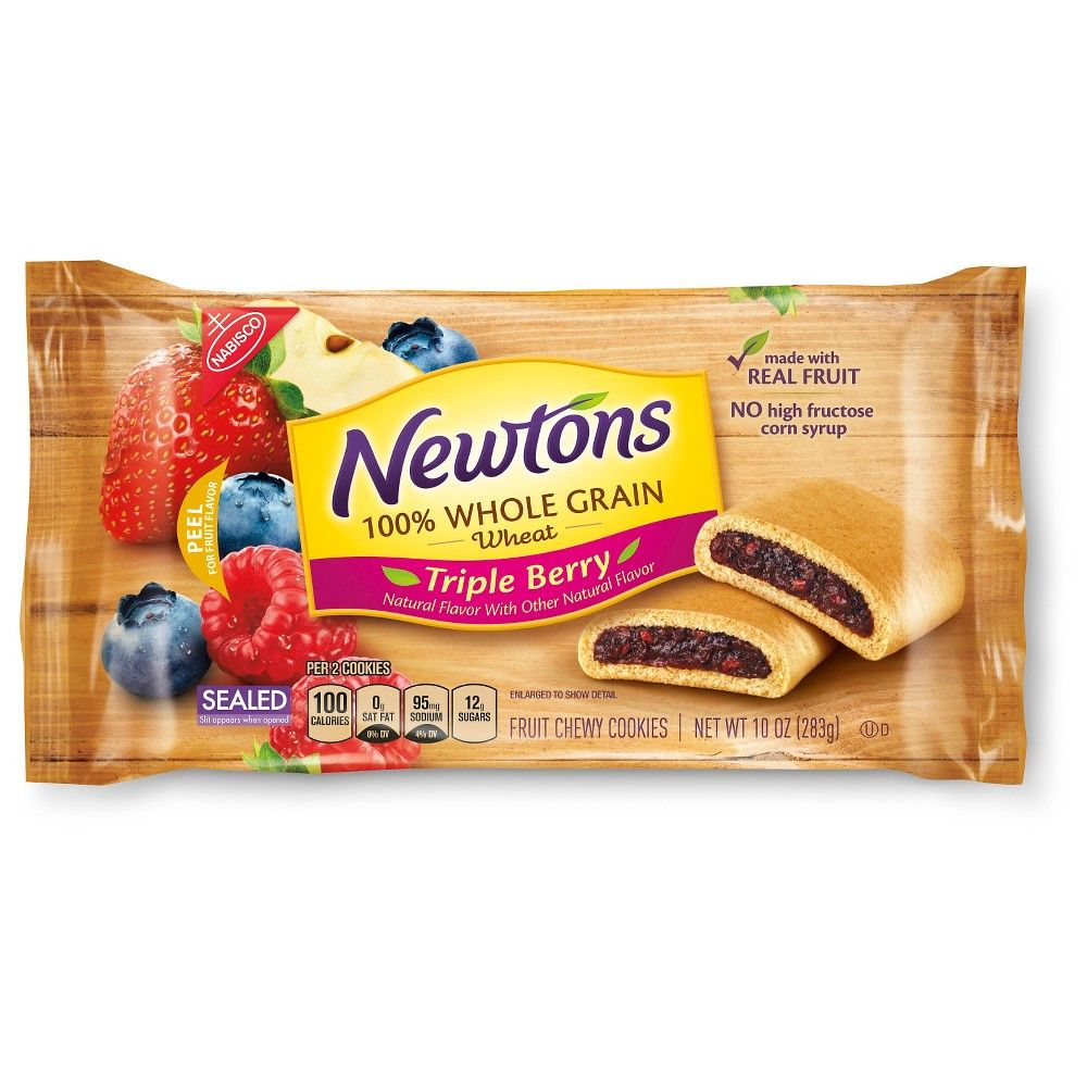 Nabisco Fig Newtons 100% Whole Grain Triple Berry 10 oz