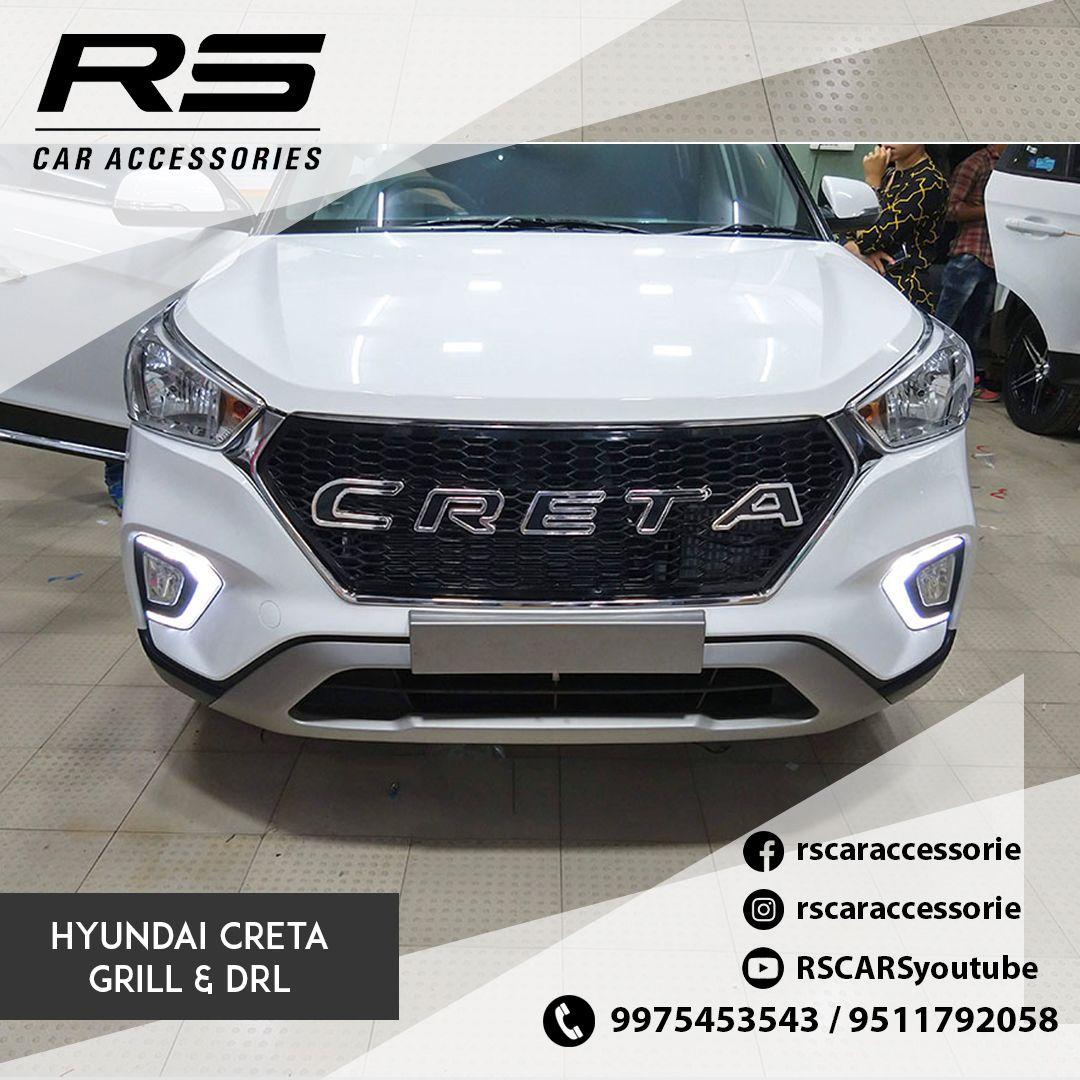 Hyundai Creta 2020 Chrome Grill Creta 2020 Car Accessories Rs Car Accessories Car Accessories Hyundai Car